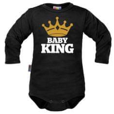 Dejna Body dlhý rukáv Dejna Baby King - čierne, veľ. 80