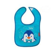 BOBO BABY Trojvrstvový bavlnený podbradník Tučniak - modrý