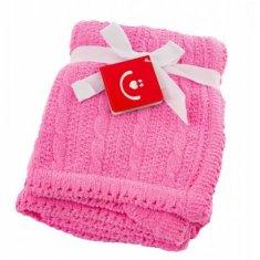 BoboBaby BOBOBABY Detská deka do kočíka, 75x92cm - ružová