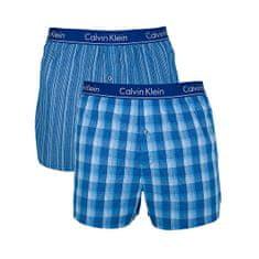 Calvin Klein 2 PACK - férfi alsónadrág LarkinPlaid-Atlantis, Gallagher Stripe-Atlantis