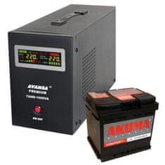 Avansa Záložný zdroj Avansa UPS 700 W + batéria 55 Ah