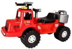 Teddies Lábbal hajtós kismotor tűzoltóautó, vizet spriccelő