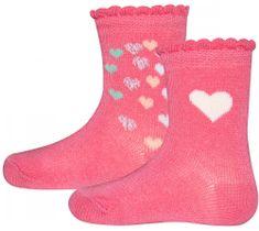 EWERS 2pack dívčích ponožek se srdíčky 205159