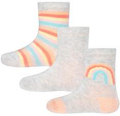 EWERS 3pack dívčích ponožek s duhou 205161