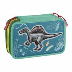 Brunnen Penál školní třípatrový s výbavou - dinosaurus,