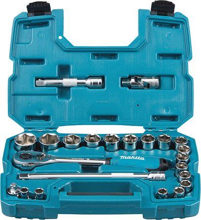 Makita 23-delna set raglje in nasadnih ključev B-65589