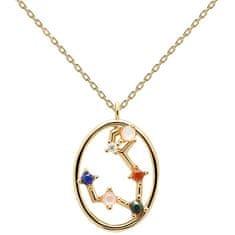 PDPAOLA Originální pozlacený náhrdelník Ryby PISCES CO01-343-U (řetízek, přívěsek) stříbro 925/1000