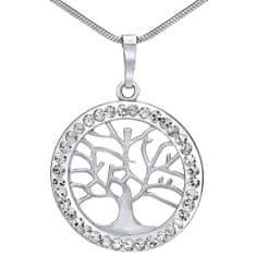 Silvego Stříbrný přívěsek Strom života se Swarovski® Crystals SILVEGOB16088 stříbro 925/1000