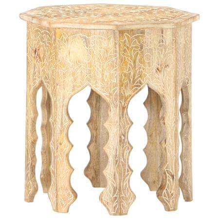 shumee tömör mangófa kisasztal Ø48 cm