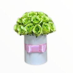 RK Dekorace Květinový box LUXURY ze zelených růží 38 cm
