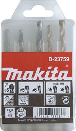 Makita 5-delni set svedrov D-23759