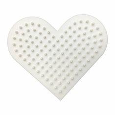 nabbi Podložka na zažehlovací korálky bio - srdce (1ks),