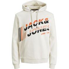 Jack&Jones Bluza męska JCOALPHA 12188035Silver Brzozowy