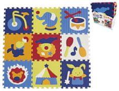Teddies BABY Penové puzzle cirkus 9 ks