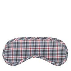 SCANquilt Maska na spaní kostka šedočervená