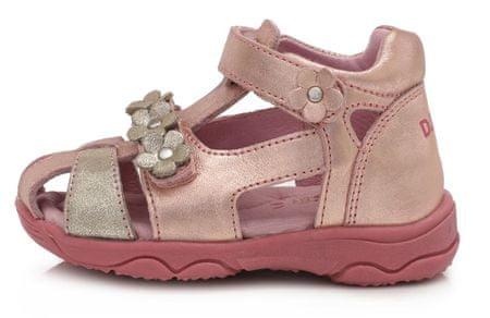 D-D-step AC64-826E sandale za djevojčice, koža, ružičaste, 27
