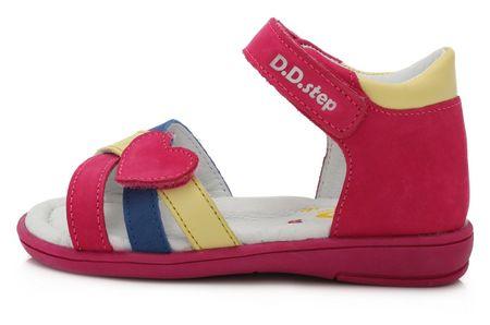 D-D-step K03-789 sandale za djevojčice, koža, ružičaste, 25