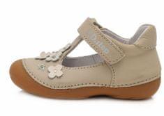 D-D-step dívčí kožené sandály 015-467