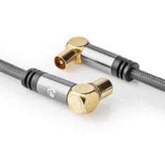 Nedis Fabritallic anténní kabel 100 dB zástrčka Coax - zásuvka Coax, 5 m (CSTB40015WT50)
