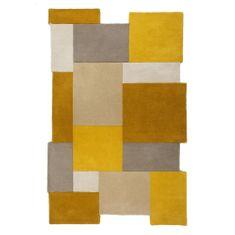 Flair Ručně všívaný kusový koberec Abstract Collage Ochre/Natural