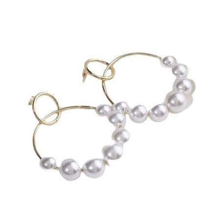 """Kraftika Fülbevaló gyöngyökkel """"tenderness"""" két gyűrű gyöngyökkel"""
