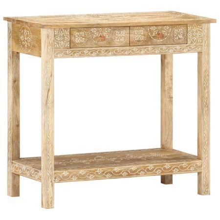 shumee tömör mangófa tálalóasztal 80 x 35 x 74 cm