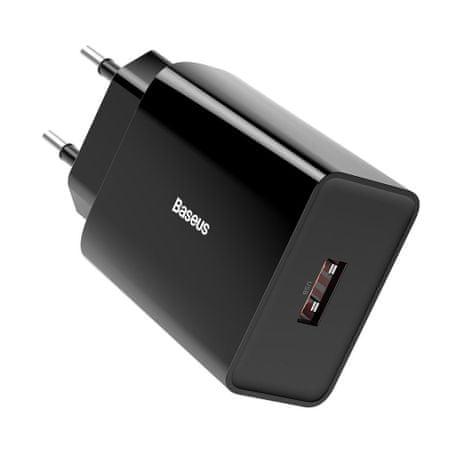 BASEUS Wall töltő USB QC3.0 18W 3A, fekete