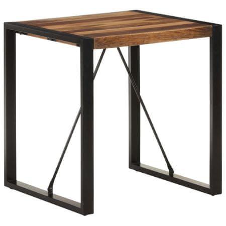 shumee tömör akácfa étkezőasztal paliszander felülettel 70x70x75 cm