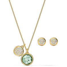 Swarovski Slušivá sada pozlátených šperkov Tahlia 5579789 (náušnice, náhrdelník)