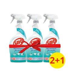 Savo Univerzális klórmentes fertőtlenítő spray 3 x 700 ml