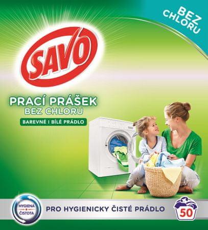 Savo Mosópor fehér és színes ruhákhoz 3,5 kg (50 mosás)