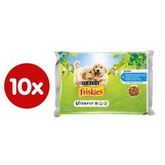 Friskies mokra hrana za mlade pse VitaFit, piletina i mrkva u umaku, 10 x (4x100 g)