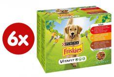 Friskies vlažna hrana za odrasle pse VitaFit, govedina, piletina, janjetina u umaku od povrća, 6x(12x100g)