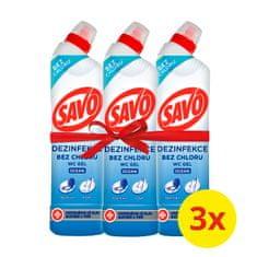 Savo Tisztító és fertőtlenítőszer Wc-khez Óceán 3 x 750 ml