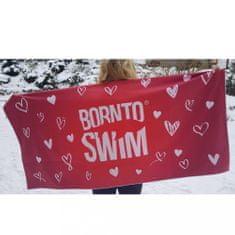 Born To Swim Valentýnský ručník z lásky a mikrovlákna - červený