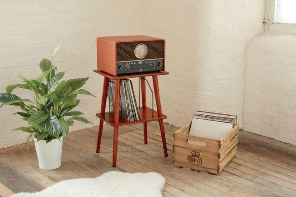 Bluetooth minisystém gpo retro chesterton usb gramofon fm am rádio rca výstup