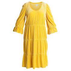 Junarose Dámské Midi Šaty Jrgitha Barva: Žlutá, Velikost: 50