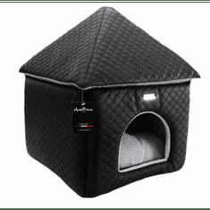 Pet Amour Pet Amour Domeček pro psy Chateaux černý, bílý Barva: Černá