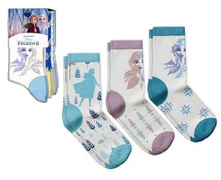 """EUROSWAN Lányok magas zokni """"Jégvarázs 2"""" - 3 db egy csomagban türkiz - 23–26"""
