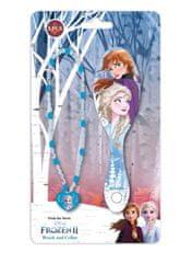 """EUROSWAN Detská kefa na vlasy a náhrdelník """"Frozen"""" - modrá"""
