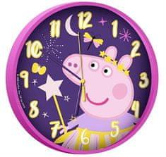 """EUROSWAN Zegar ścienny dziecięcy """"Świnka Peppa"""" 25 cm różowy"""