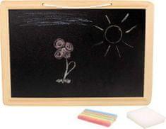Small foot Dětská tabule s křídou a houbičkou