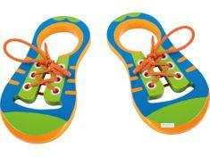 Small foot Dřevěná hra - zavaž si tkaničku.