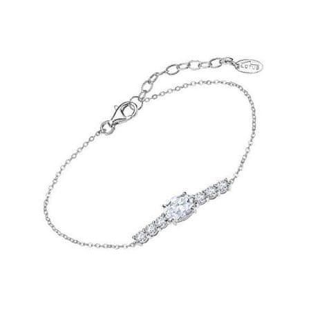Lotus Silver Lélegzetelállító ezüst karkötő átlátszó cirkónium kövekkel LP2011-2/1