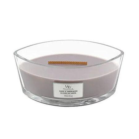 Woodwick Illatgyertya váza Suede & Sandalwood 453,6 g