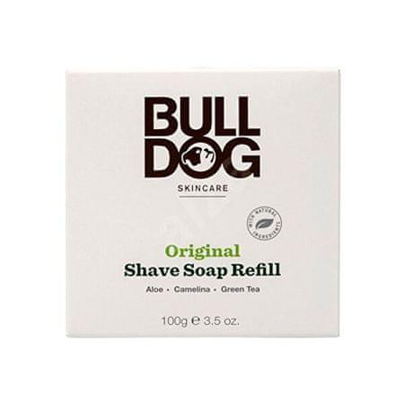 Bulldog Borotvaszappan bambusz tálban - utántöltő (Bulldog Original Shave Soap) 100 g