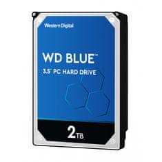 WD Blue trdi disk, 2 TB, SATA3, 5400 rpm, 256 MB