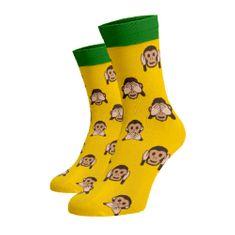 BENAMI Veselé ponožky Opičky Žlutá Bavlna 35-38