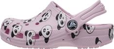 Crocs Lány papucs Classic Panda Print Clog K 206999-6GD
