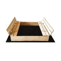 Čisté dřevo Dřevěné pískoviště s lavičkami 120 x 120 cm